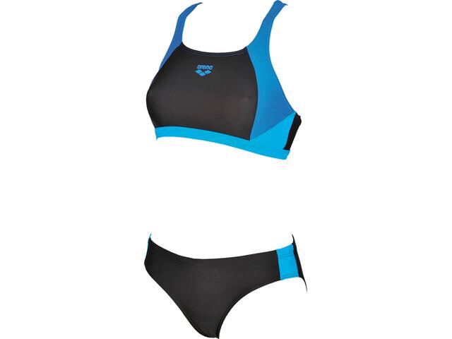 arena Ren Zweiteiliger Bikini Damen black-pix blue-turquoise